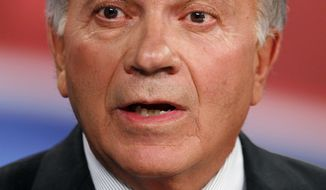 ASSOCIATED PRESS American Constitution Party candidate Tom Tancredo speaks during a gubernatorial debate at KMGH Television in Denver on Tuesday, Oct. 5, 2010.