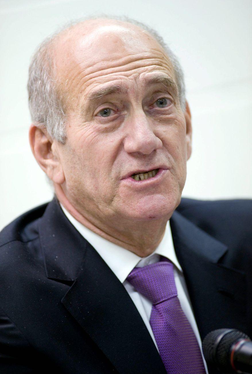 Former Israeli Prime Minister Ehud Olmert (Associated Press)
