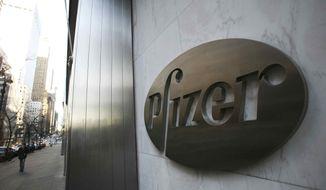**FILE** Pfizer's world headquarters is shown Jan. 25, 2009, in New York. (Associated Press)