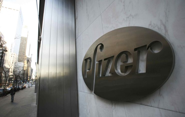 **FILE** Pfizer's world headquarters is shown Jan. 25, 2009, in New York. (Associated Press)