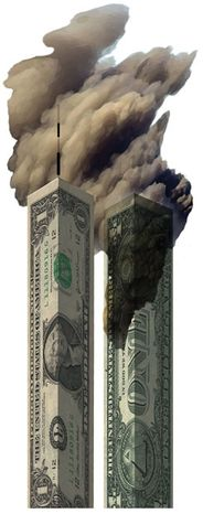 Illustration: Twin Towers by Alexander Hunter for The Washington Times