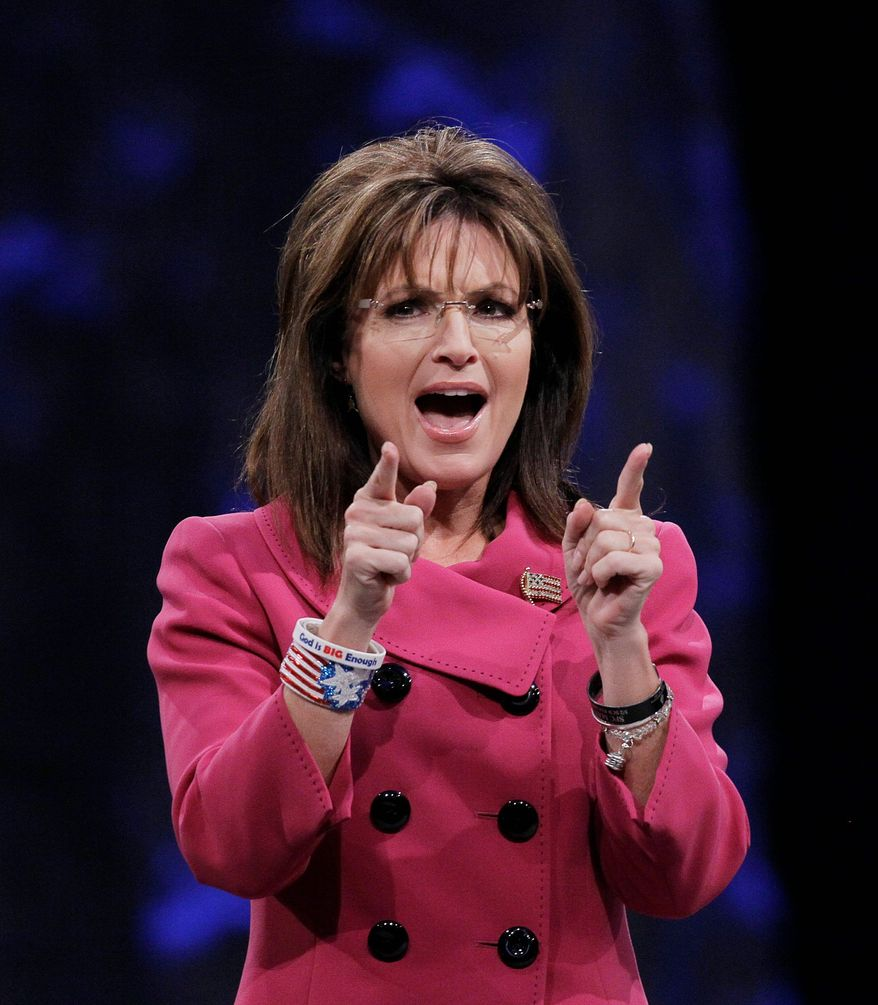 ASSOCIATED PRESS Sarah Palin launches a Tea Party Express tour in Reno, Nev., on Saturday.