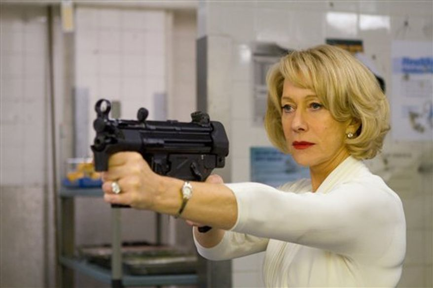 "In this publicity image released by Summit Entertainment, Helen Mirren is shown in a scene from, ""Red."" (AP Photo/Summit Entertainment, Frank Masi)"
