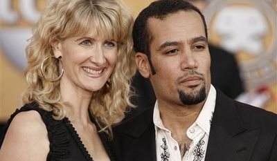 FILE - In this Jan. 25, 2009 file photo, Laura Dern and Ben Harper arrive at the 15th Annual Screen Actors Guild Awards  in Los Angeles. (AP Photo/Matt Sayles, file)
