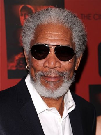 """** FILE ** In this Oct. 3, 2010, file photo, Morgan Freeman attends a Cinema Society screening of """"Red"""" at Museum of Modern Art, in New York. (AP Photo/Peter Kramer, file)"""