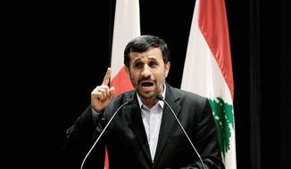 ISRAEL'S ENEMY: Iranian President Mahmoud Ahmadinejad is considered by many of Lebanon's common folk as a protector from Israeli dominance. (Associated Press)