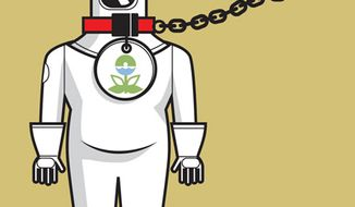 Illustration: EPA regulations by Linas Garsys for The Washington Times