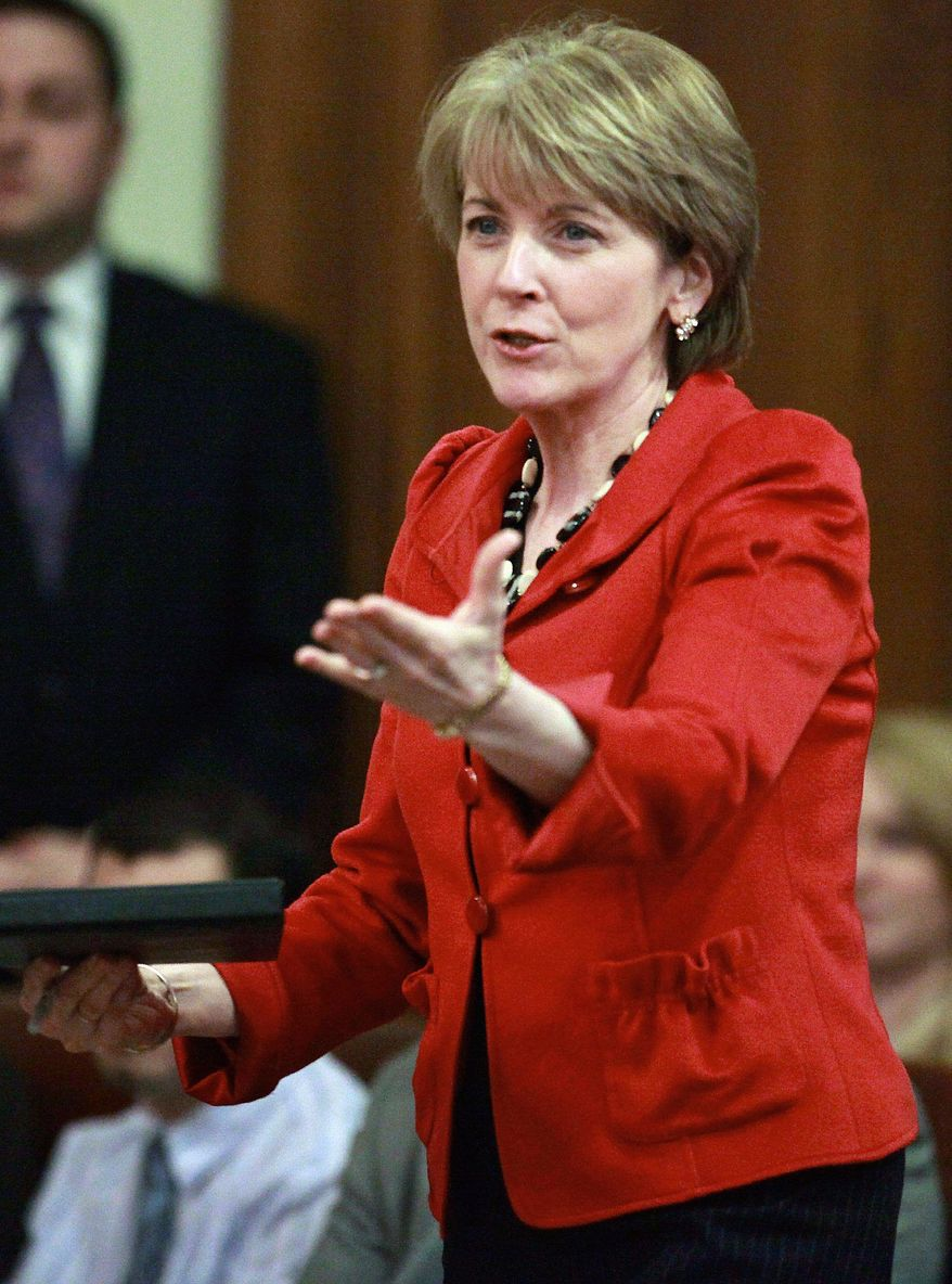 Massachusetts Attorney General Martha Coakley is a defendant in an injunction request to stop enforcing expansion of a new obscenity law. (Associated Press)