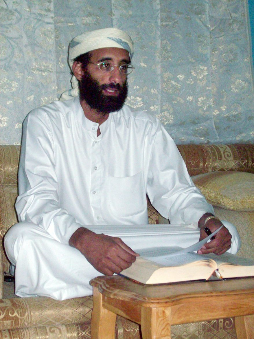 U.S.-born radical Islamic cleric Anwar al-Awlaki in Yemen is on a U.S. list of militants to kill or capture. (Associated Press)