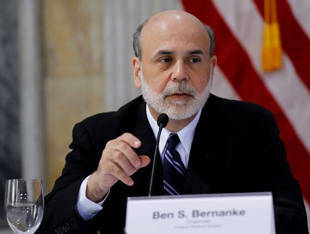 Federal Reserve Chairman Ben S. Bernanke advised Congress earlier this year to avoid big spending cuts now and rein in spending on entitlement programs such as Social Security and Medicare over the next five to 10 years. (Associated Press)