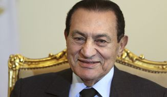 **FILE** Former Egyptian President Hosni Mubarak (Associated Press)