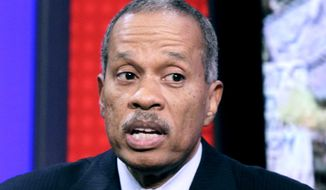"Juan Williams appearing on the ""Fox & Friends"" television program in 2010. (AP Photo/Richard Drew)"