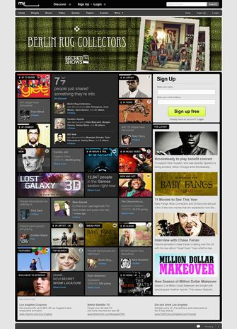 This screenshot provided by MySpace shows the new MySpace.com page. (Associated Press)