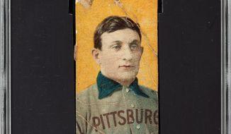 A rare Honus Wagner baseball card. (Associated Press) ** FILE **