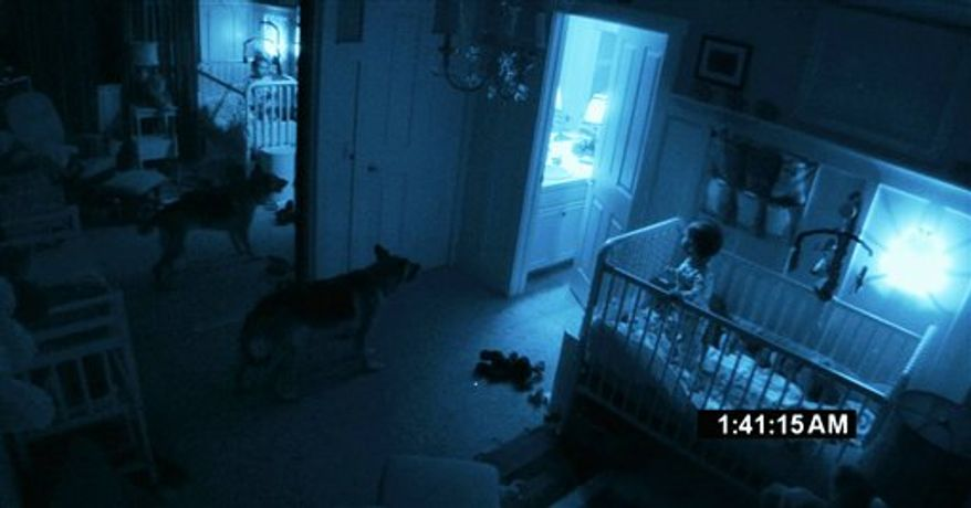 """In this film publicity image released by Paramount Pictures, a scene is shown from """"Paranormal Activity 2."""" (AP Photo/Paramount Pictures)"""