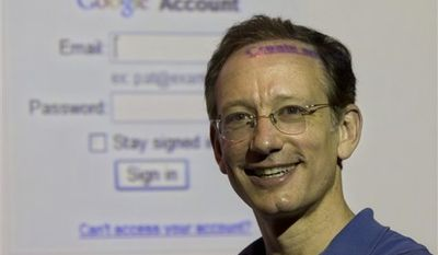 Peter Fleischer, Google's Global Privacy Counsel poses for a photograph in Jerusalem, Tuesday, Oct. 26, 2010. Google's global privacy counsel says he's surprised by how few people choose to control what ads are steered their way _ a tool which the Internet search giant launched, albeit with minimal fanfare, over the past year. (AP Photo/Sebastian Scheiner)