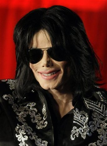** FILE ** Michael Jackson is pictured on March 5, 2009, at a press conference in London. (Associated Press)