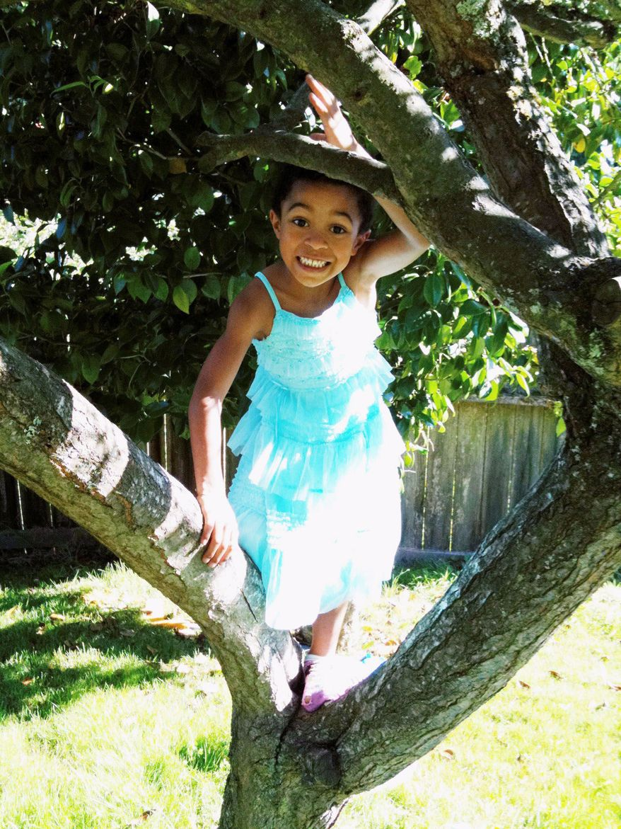 "Dyson Kilodavis, 5, of Seattle likes to wear dresses. His mother, Cheryl Kilodavis, self-published ""My Princess Boy"" about acceptance. (Provided by Kilodavis family via Associated Press)"