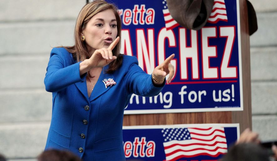 """""""The Vietnamese and the Republicans are, with an intensity, [trying] to take this seat, this seat [from which] we have done so much for our community,"""" Rep. Loretta Sanchez said. The Vietnamese community didn't take offense. (AP Photo)"""
