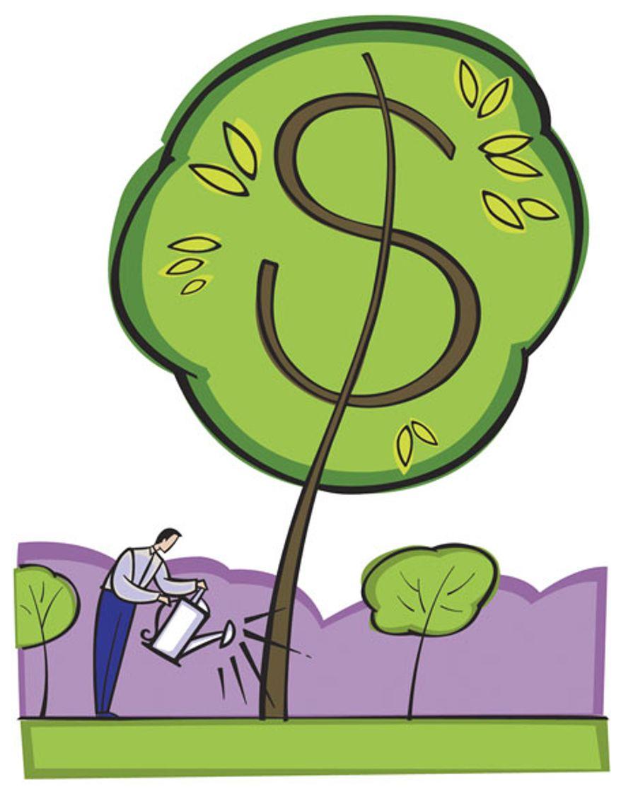 Illustration: Money tree