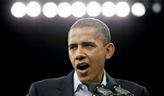 President Obama makes a final get-out-the-vote push for Democratic candidates in Ohio on Sunday. He is scheduled to give a news conference early Wednesday afternoon. (Associated Press)
