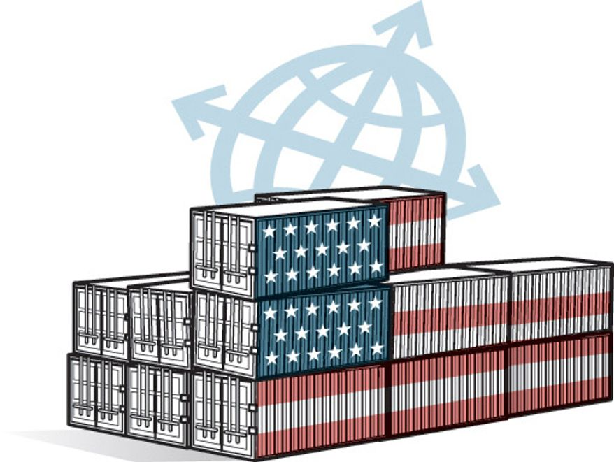 Illustration: Trade by Linas Garsys for The Washington Times