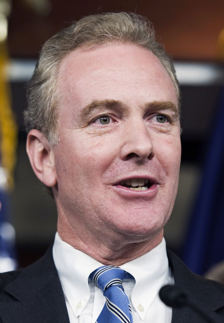 ** FILE ** In this Sept. 30, 2010, file photo, Rep. Chris Van Hollen, Maryland Democrat, takes part in a news conference on Capitol Hill in Washington. Van Hollen, the congressman in charge of the House Democrats' campaign efforts, is leaving that post just days after his party lost more than 60 seats to the Republicans. (AP Photo/Cliff Owen, File)