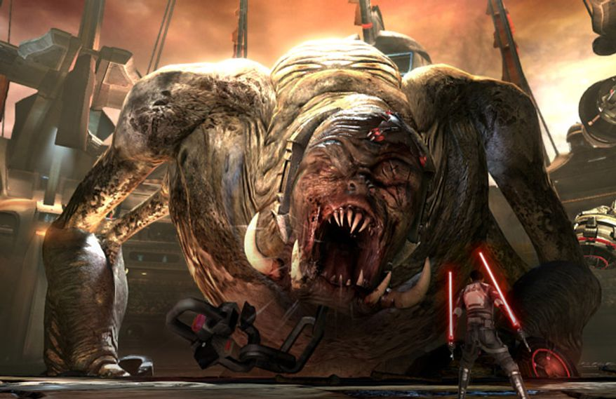 That's no rancor in Star Wars: Force Unleashed II from LucasArts for the PlayStation 3.