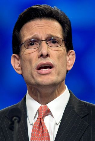 """House Minority Whip Eric Cantor, Virginia Republican, is making no promises of leadership posts to """"tea party"""" favorites. (Associated Press)"""