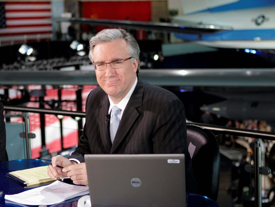 **FILE** Keith Olbermann poses May 3, 2007, at the Ronald Reagan Library in Simi Valley, Calif. (Associated Press)