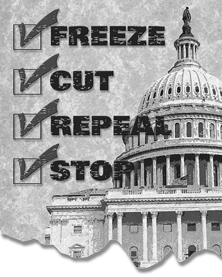 Illustration: Congressional checklist by Greg Groesch for The Washington Times