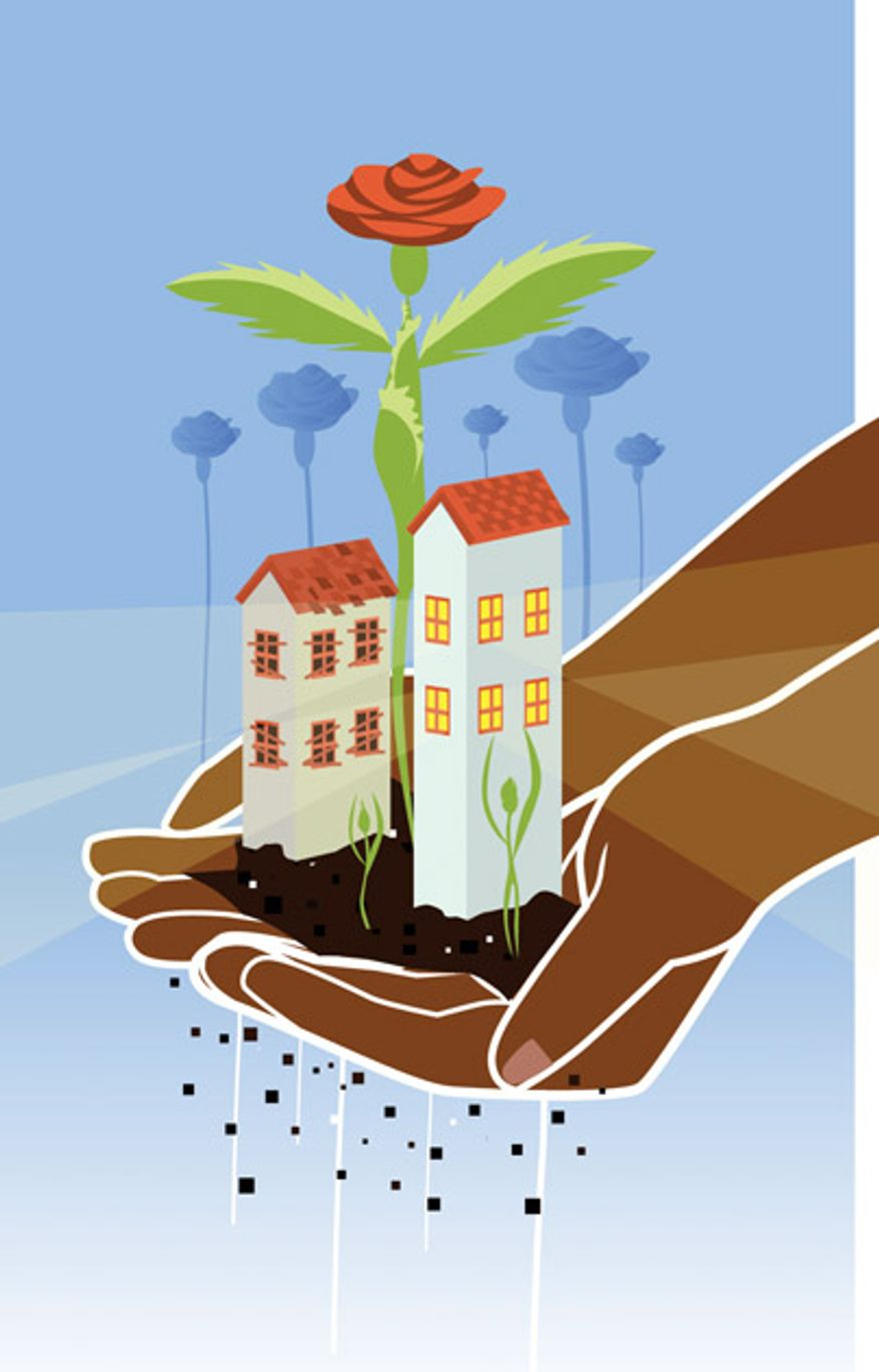 Illustration: Housing by Linas Garsys for The Washington Times