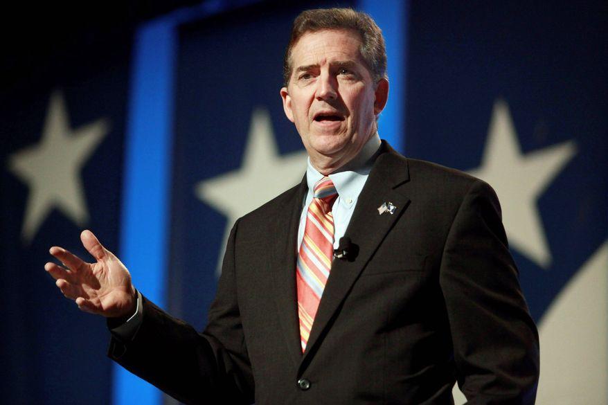 """Sen. Jim DeMint, South Carolina Republican, urges Republicans """"to stop pork-barrel spending."""" (Associated Press)"""