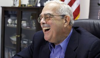 Rep. Gerry Connolly, D-Va., talks about winning his re-election, at his office in Annandale, Va., on Tuesday, Nov. 9, 2010. (AP Photo/Alex Brandon)