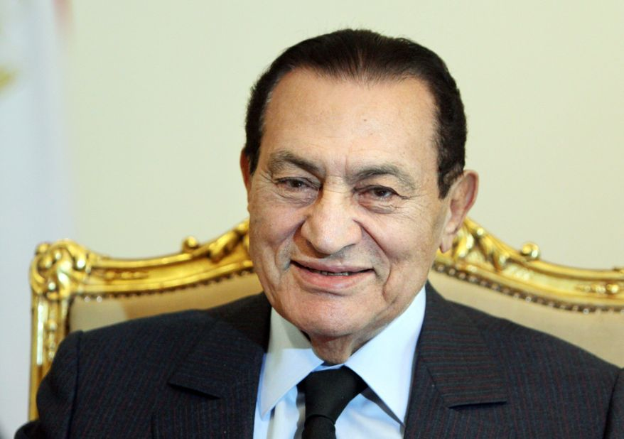 Despite long-standing rumors of increasingly poor health, Egyptian President Hosni Mubarak, seen here Oct. 19, energetically launched his party's parliamentary election campaign Wednesday. (Associated Press)