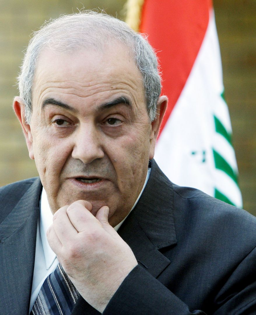 The U.S. wanted ex-Prime Minister Iyad Allawi to take the presidency. (Associated Press)
