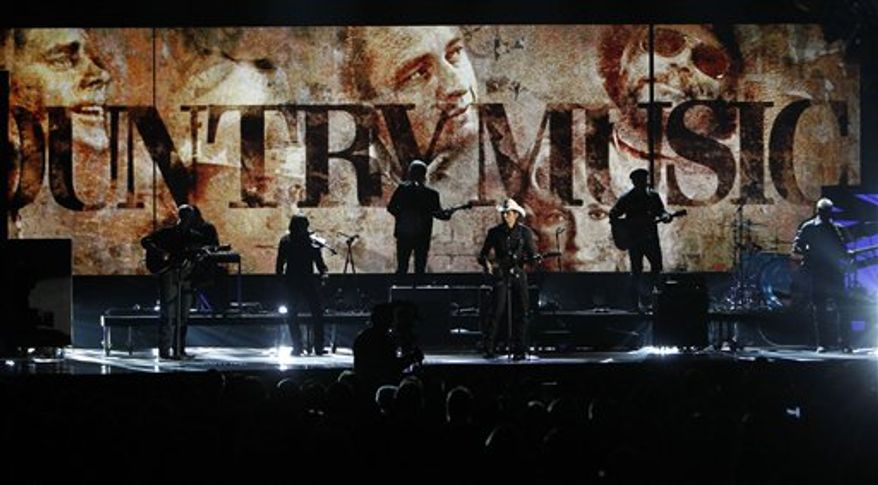 Dierks Bentley performs at the 44rd Annual Country Music Awards in Nashville, Tenn. Wednesday, Nov. 10, 2010. (AP Photo/Mark Humphrey)