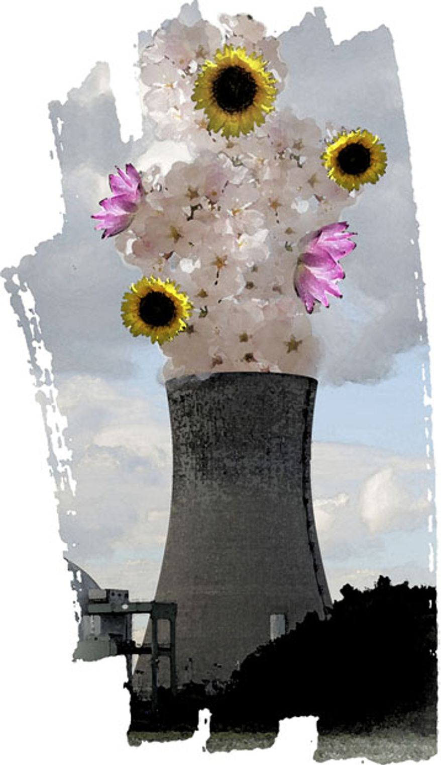 Illustration: Nuclear power by Greg Groesch for The Washington Times