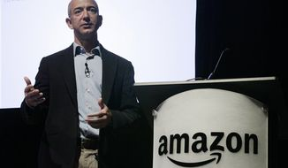 **FILE** In this photo from May 25, 2010, Amazon.com Inc. CEO and founder Jeff Bezos speaks during the company's shareholders meeting in Seattle. (Associated Press)