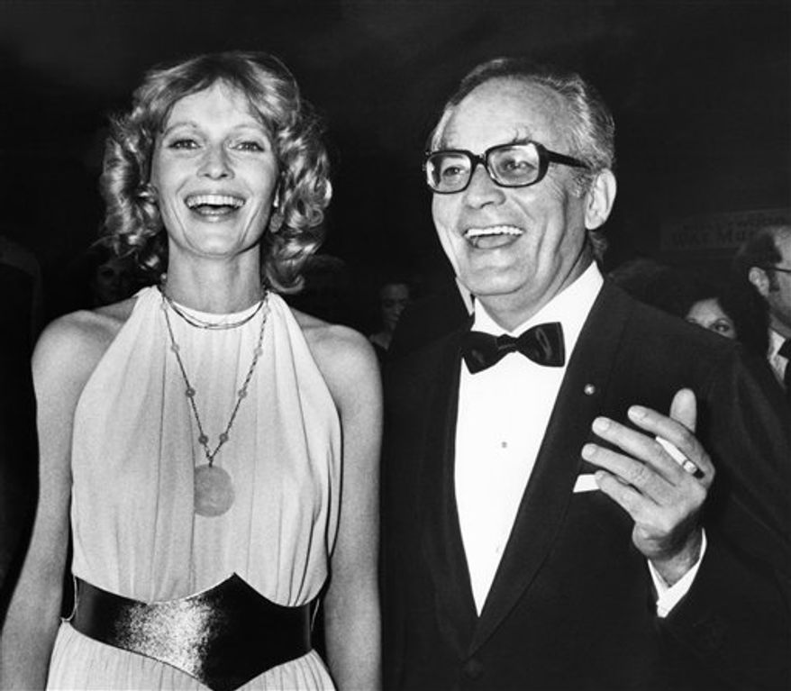 "FILE - This May 21, 1984 file photo shows producer Dino de Laurentiis at the Cannes Film Festival in France.  De Laurentiis, a film impresario and producer of ""Serpico,"" ""Barbarella"" and ""Death Wish,"" died  Wednesday, Nov. 10, 2010 at his home in Beverly Hills, Calif. He was 91. (AP Photo/Michel Lipchitz, File)"
