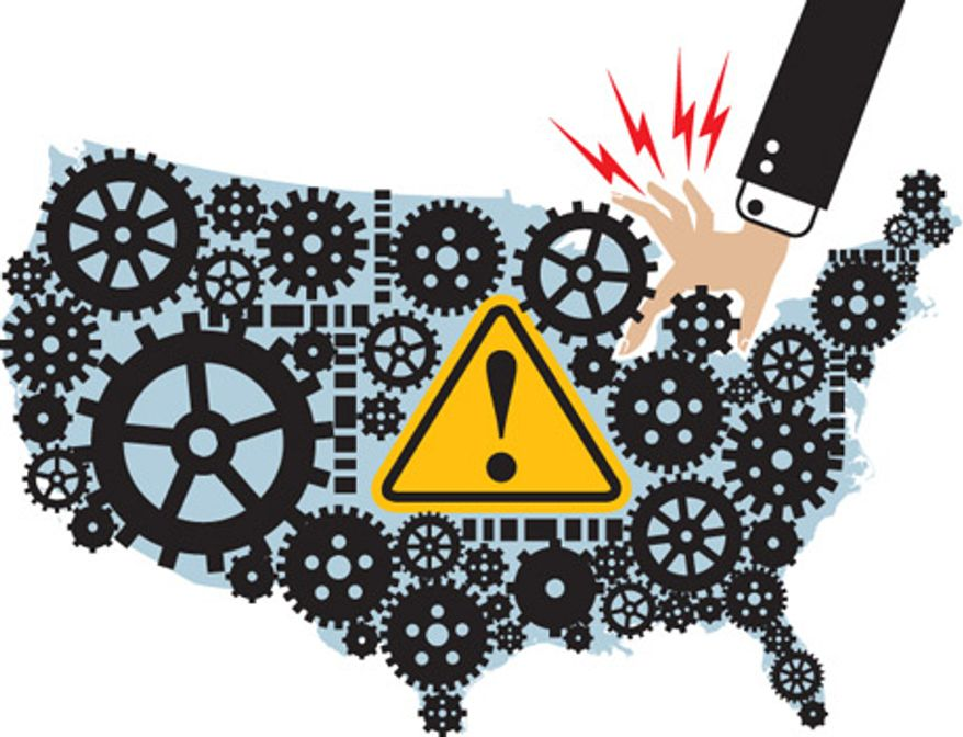 Illustration: Manufacturing by Linas Garsys for The Washington Times