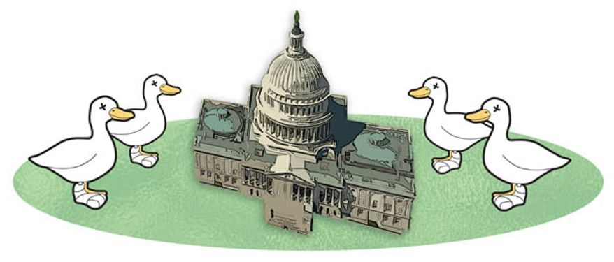 Illustration: Lame Duck Congress by Greg Groesch for The Washington Times