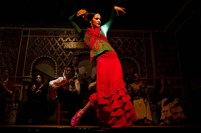 In this photo taken on Monday, Nov. 15, 2010, flamenco dancer Lucia performs in the renowned Torres Bermejas Tablao Restaurant in Madrid. Spain's flamenco dance is among 51 proposals to be considered for inclusion on two UNESCO intangible cultural heritage lists. The Paris-based U.N. organization said that Tuesday Nov. 16 meeting in Nairobi, Kenya, will determine which of the proposals make the final cut. Thirty-one countries on four continents fielded proposals.  (AP Photo/Victor R. Caivano)