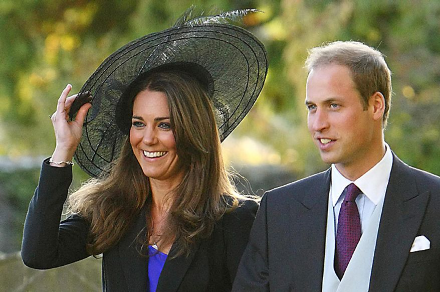 In this Oct. 23, 2010 file photo, Britain's  Prince William and Kate Middleton leave the wedding of their friends Harry Mead and Rosie Bradford in the village of Northleach, England. According to an announcement from Clarence House in London, Tuesday Nov. 16, 2010, the couple are engaged, and will be married in 2011.(AP Photo/Chris Ison, pa , file)