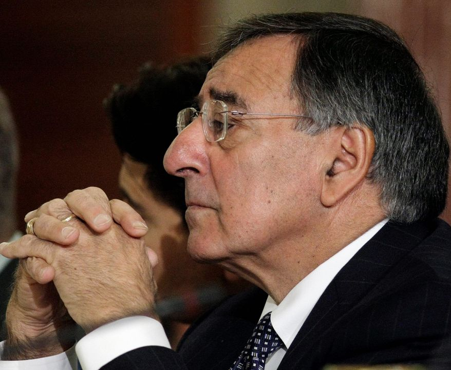 Central Intelligence Agency Director Leon E. Panetta listens during a meeting between U.S. and Afghan delegations at the State Department in Washington, Tuesday, May 11, 2010. (AP Photo/J. Scott Applewhite)