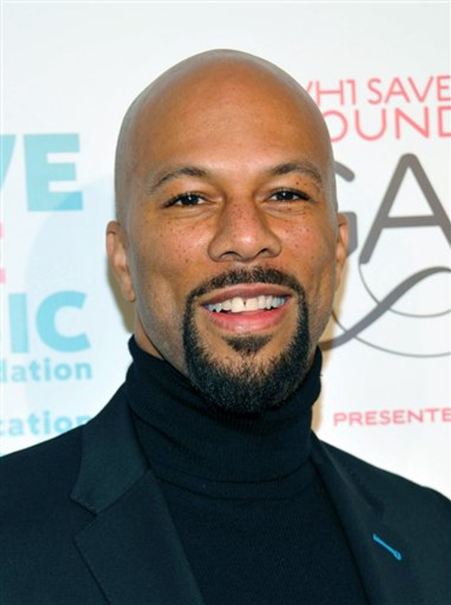 FILE  - In this Nov. 8, 2010 file photo released by VH1, Common arrives at the VH1 Save the Music Foundation 2010 Gala held at Cipriani Wall Street in New York.  (AP Photo/VH1, Evan Agostini)