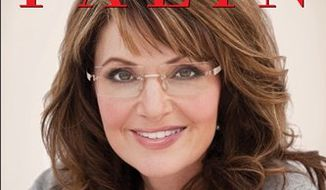"In this book cover image released by HarperCollins, Sarah Palin's ""America By Heart: Reflections on Family, Faith, and Flag,"" is shown. (AP Photo/HarperCollins)"