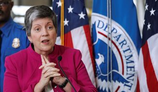 Janet Napolitano, secretary of homeland security