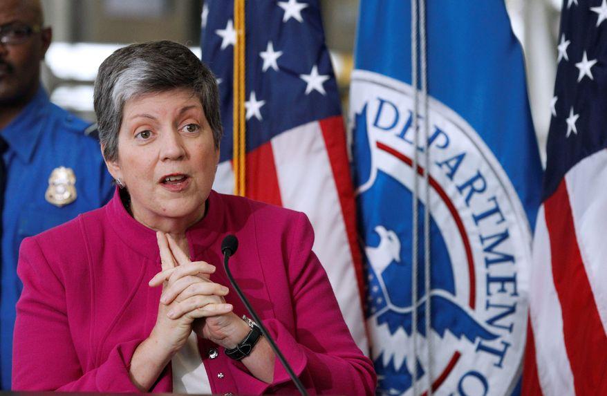 Janet Napolitano, secretary of homeland security
