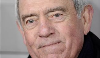 """FILE - In this Feb. 17, 2010 file photo, Dan Rather attends the premiere of """"Shutter Island"""" at The Ziegfeld Theatre, in New York. (AP Photo/Peter Kramer, file)"""